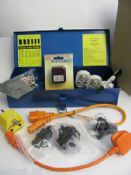 PAT Testing Adapters & Accessories Set, in a Metal Toolbox